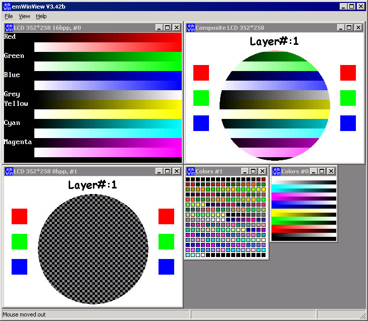 Segger emWin Graphics library